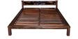 Visaya Premium Acacia Wood Queen Size Bed in Provincial Teak Finish by Mudramark
