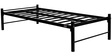 Metallic Single Bed in Black Colour by Furniturekraft