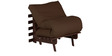Single Futon with Mattress in Chocolate Colour by Auspicious