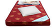 Single 4 Inch Foam Mattress with Pillow in Maroon Color by Story@Home