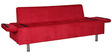 Sit n Sleep Three Seater Sofa in Red Colour by Kurl-On