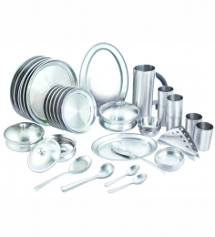 Silver Queen Stainless Steel Dinner Set -  51 Pcs