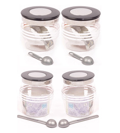 Plastic Container Set Of 4pcs - 600ml & 1000ml