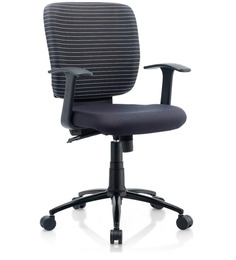 Silverline Ergonomic Chair in Black Colour by Oblique