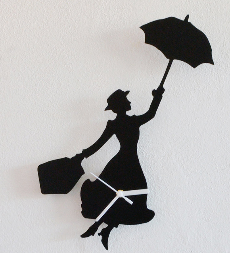 Silhouette Mary Poppins Wall Clock by Silhouette Online  : silhouette mary poppins wall clock silhouette mary poppins wall clock xjurg5 from www.pepperfry.com size 800 x 880 jpeg 157kB