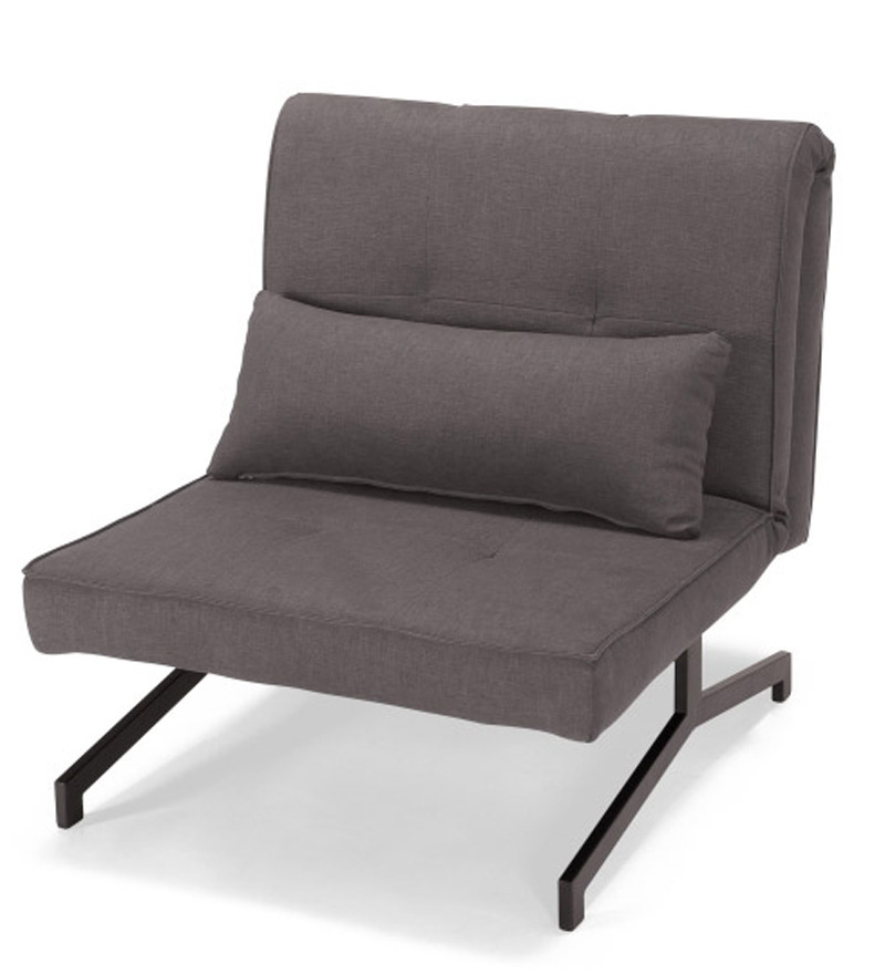 Single chair sofa cum bed dark grey by furny online sofa for Sofa bed single