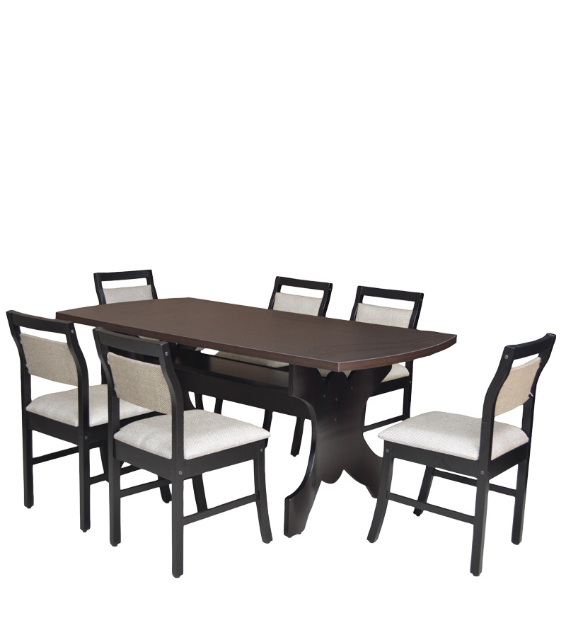 Buy six seater dining set with six chairs mdf top in for 6 seater dining table