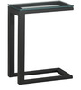 Side Table C-Clear Glass by Asian Arts