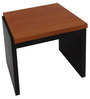 Side Table in Black and Ox Cherry Finish by Urban Influence