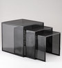 Side Table in Black Colour by Indecrafts (Set Of 3)