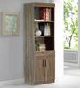 Youko Book Shelf cum Display Unit in Wenge Finish by Mintwud