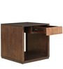 Sienna Solidwood Side Table in Wenge & Oak Colour by HomeTown
