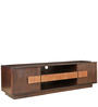 Sienna Solidwood Entertainment Unit in Wenge & Oak Colour by HomeTown