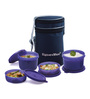 Signoraware Violet Plastic Executive Lunch Box with Bag - Set of 4