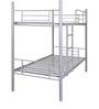 Silver Bunk Bed in Grey Finish by FurnitureKraft