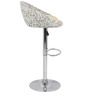 Simo Bar Chair in Print and Cream  Color by The Furniture Store