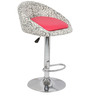 Simo Bar Chair in Print and Pink Color by The Furniture Store