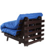 Single Futon Sofa cum bed With Blue Mattress by ARRA