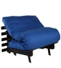 Single Futon Sofa cum bed With Mattress in Blue Colour by ARRA