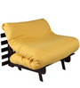 Single Futon Sofa cum bed With Yellow Mattress by ARRA