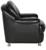 Single Seater Sofa in Black Colour by Penache Furnishings