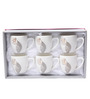 Sivica Durable Porcelain 380 ML Mug Set - Set of 6