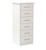 Kuro Chest of Six Drawers in Oak and White Finish by Mintwud