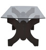 Six Seater Dining Set with Six Chairs & MDF Top in Wenge Colour by Crystal Furnitech