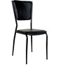 Six Seater Glass TopDining Set in Black Colour by Parin