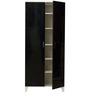 Mai Six Shelf Shoe cum Storage Unit in Black Finish by Mintwud