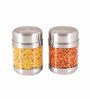 Sizzle Clear Silver Stainless Steel 575 ML Jar - Set of 2
