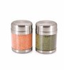 Sizzle Silver Stainless Steel 1.2 L Jar - Set of 2