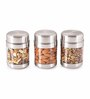 Sizzle Silver Stainless Steel 300 ML  Jar - Set of 2