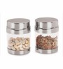 Sizzle Galaxy Silver Stainless Steel 400 ML Clear Galaxy Jar - Set of 2