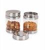 Sizzle Clear Silver 1.2 L Jar - Set of 2