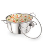 Sizzle Stainless Steel 1 L Induction Conical Kadai with Glass Lid