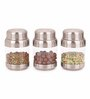 Sizzle Crystal Clear Silver Stainless Steel 175 ML Storage Container - Set of 3