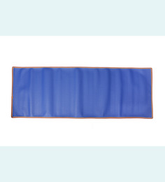 Skipper Blue PVC 68 x 24 Inch Yoga Mat with Border