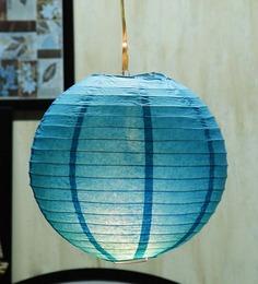 Skycandle Round Blue Paper Lantern