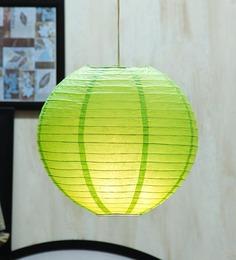 Skycandle Round Green Paper Lantern