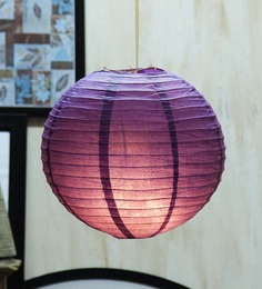 Skycandle Round Purple Paper Lantern