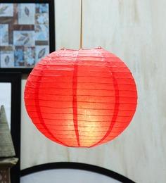 Skycandle Round Red Paper Lantern