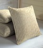 Skipper Beige Viscose & Cotton 16 x 16 Inch Indian Ethnic Cushion Covers - Set of 3