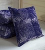 Skipper Blue Viscose & Polyester 16 x 16 Inch Abstract Texture Cushion Covers - Set of 3