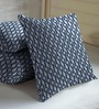 Skipper Blue Viscose & Polyester 16 x 16 Inch Cushion Covers - Set of 3