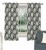 Skipper Blue Viscose Abstract Window Curtain