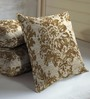Skipper Brown Viscose & Polyester 16 x 16 Inch Cushion Covers - Set of 3