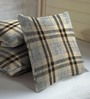 Skipper Brown Viscose & Polyester 16 x 16 Inch Geometric Pattern Cushion Covers - Set of 3