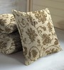 Skipper Brown Viscose & Polyester 16 x 16 Inch Nature & Florals Cushion Covers - Set of 3