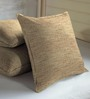 Skipper Brown Viscose & Polyester 16 x 16 Inch Texture Cushion Covers - Set of 3